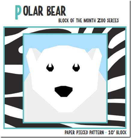 Polar Bear March Zoo Animal Block by Quiet Play