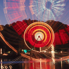 Ferris wheel and reflection by Gale Perry - City,  Street & Park  Amusement Parks (  )