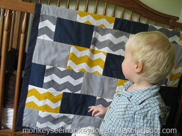 finished chevron quilt (8)