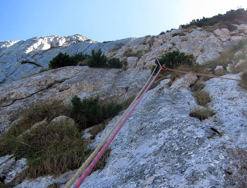 Piatra Craiului - Traseul Central al Lirei, 5A (6 A0 sau 7-/7)