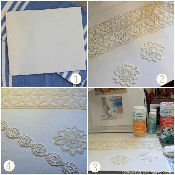 Martha Stewart Decoupage - Memo Board via homework (7)