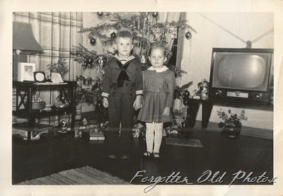 Steven and Julieann 1953 Christmas Pequot Lakes