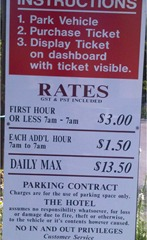 normal parking rates are cheaper