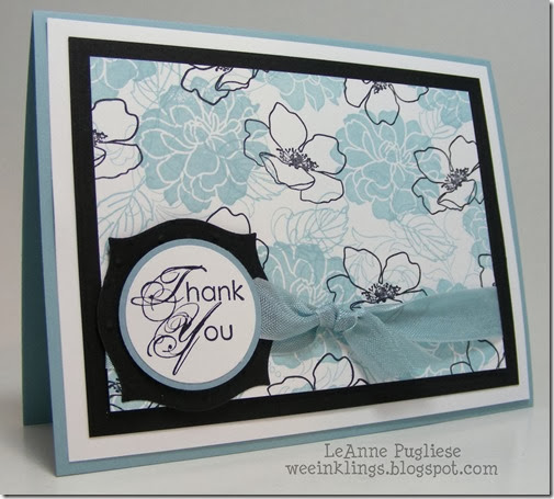 LeAnne Pugliese WeeInklings Fabulous Florets Thank You Stampin Up