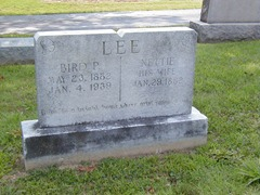 Lee, Bird P and Nettie - Grave Marker