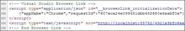 Browser Link Syntax