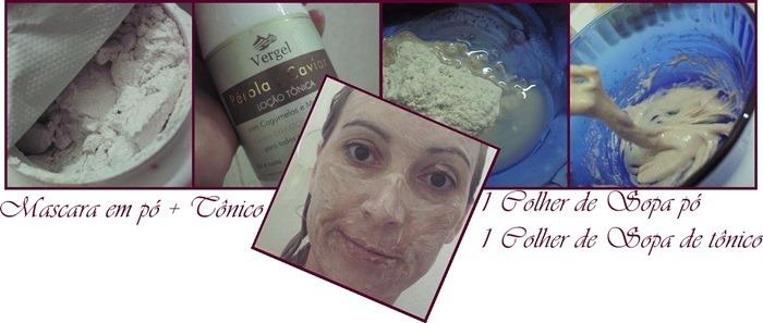 Tônico + Mascara de Colágeno =Revitalização Facial Vergel