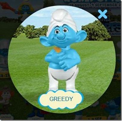 Smurf 2 X Happy Meal - Greedy Smurf