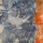 impressions vegetales - monotype 30 x 42 cm - 80 €
