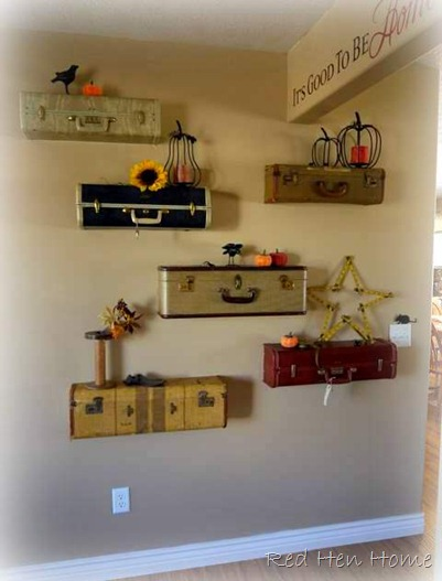 vintage luggage shelves shelf