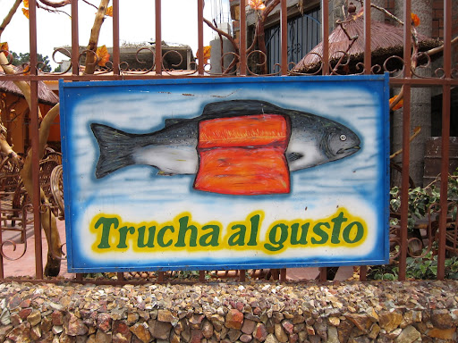 Trout (trucha) from Lake Titicaca - a popular dish in the area.