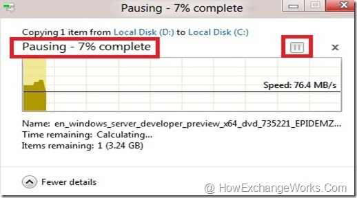 pause and resume copy process in windows 8 cloudiffic