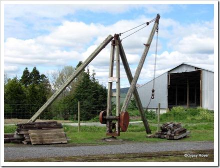 Goods yard crane at Goldfields Railway, Waihi.