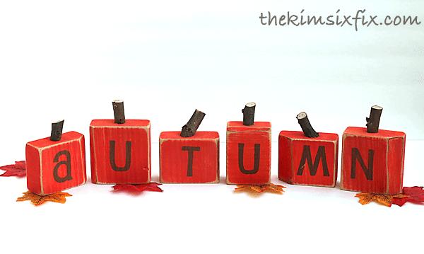 Pumpkin wood blocks