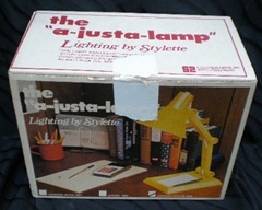 a-justa-lamp, yellow, box