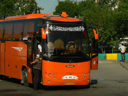Transport Iran: autobuz iranian