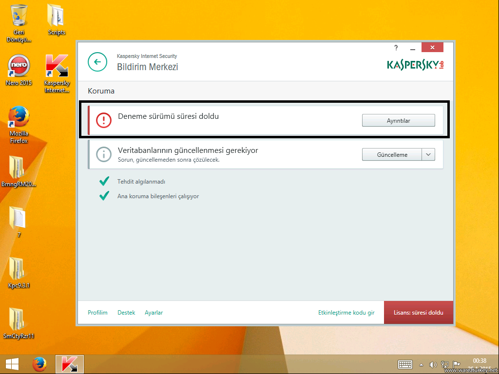 Kaspersky Trial Reset v4.0.0.22 + Resimli Anlatım