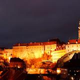 Вечерняя панорама замка.