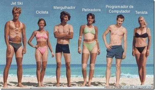 face imagem profissões na praia