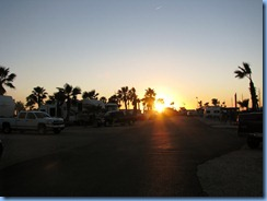7005 Texas, South Padre Island - KOA Kampground - sunset from our RV site