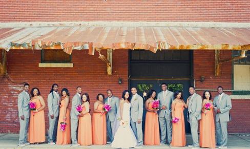 Casamento Moderno - Laranja e Pink (15)