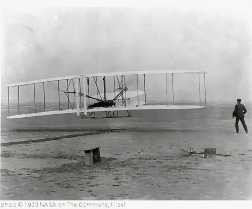 'The Wright Brothers' First Heavier-than-air Flight' photo (c) 1903, NASA on The Commons - license: http://www.flickr.com/commons/usage/