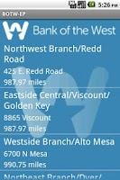 Screenshot of Bank of the West El Paso