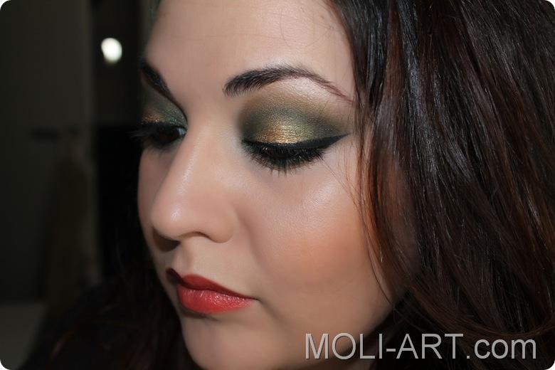 look-de-maquillaje-verde-y-dorado-humic-de-mac