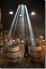 Barrel making at Demptos cooperage, Napa