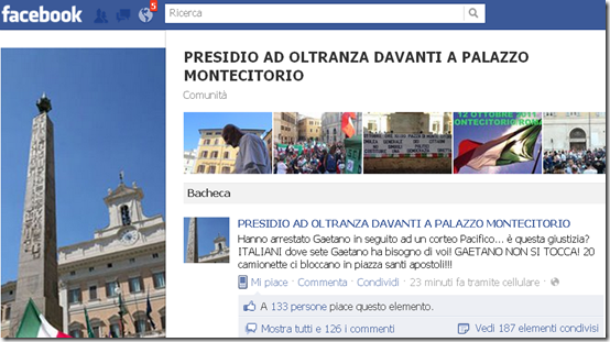 La pagina Facebook di Gaetano Ferrieri