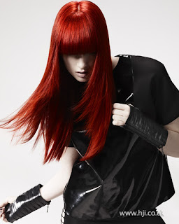 British Hairdresser of the Year, Long red hair, bangs