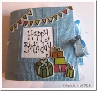 Its All Fiddle Fart Mini 50th Birthday CardBook – Birthday Card Book