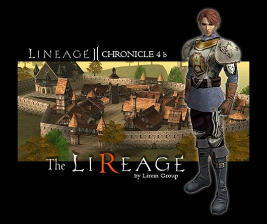 Lineage II start screen, en The Lireage, Lirein Server