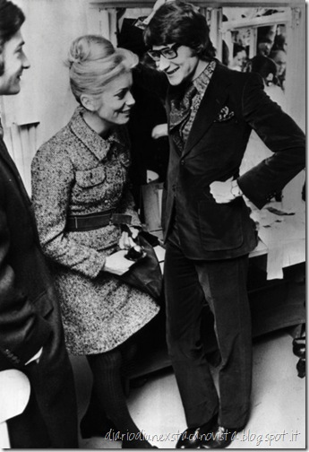 Catherine Deneuve and Yves Saint-Laurent, 1968
