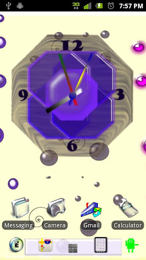 Crazy Clock Purple Design