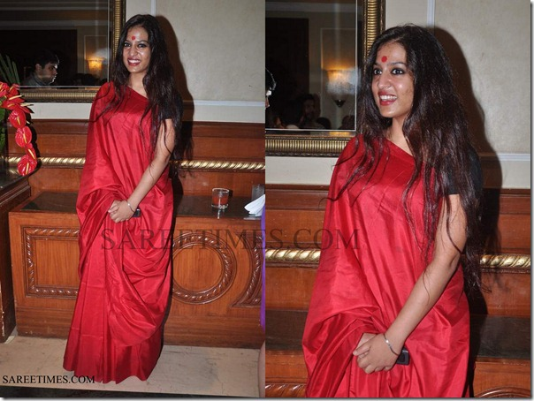Red_Plain_Saree