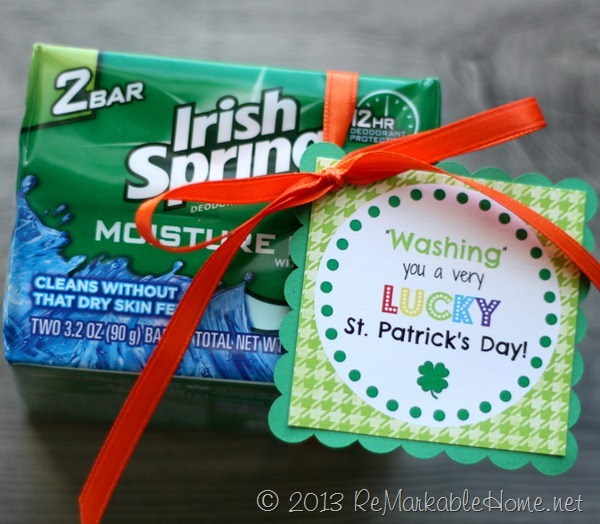 Washing you a Very Lucky St. Patrick's Day FREE Printables