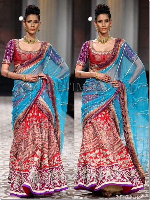 Azva_Blue_Red_Embroidery_Sari