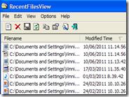 Scoprire quali file sono stati aperti di recente sul computer - RecentFilesView