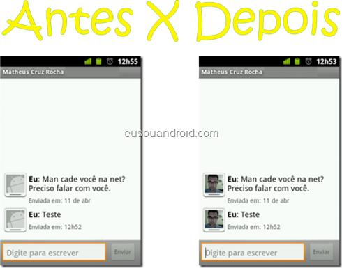 """Como alterar a imagem """"Eu"""" quando você envia uma mensagem pelo seu Android"""