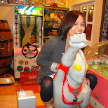 yuka riding ultraman in Odaiba, Tokyo, Japan