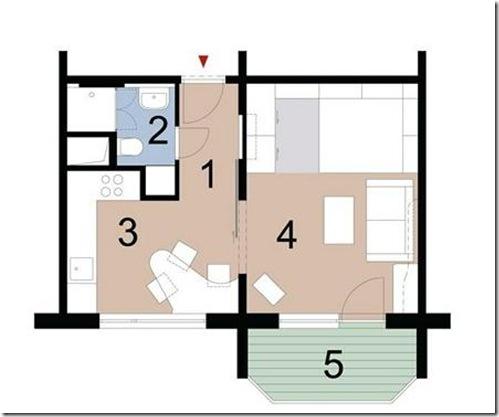 дизайн проект однокомнатной квартиры 7