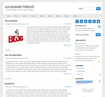 Alfa blogger template