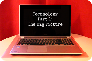 Technology Part 1 words and logo