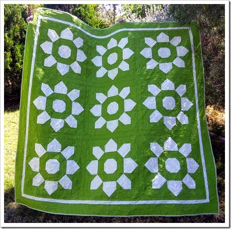 Blossom Quilt - With Fabric and Thread
