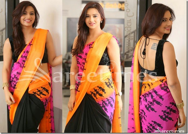 Isha_Chawla_Half_and_Half_Saree(2)