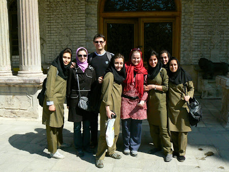 Picture with young Iranian students