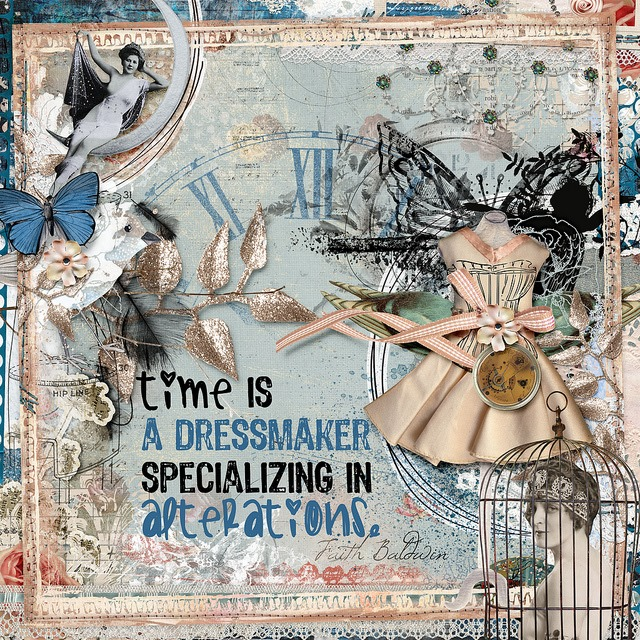 time is a dressmaker