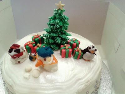 fondant penguin snowman
