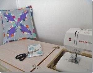 At the sewing table